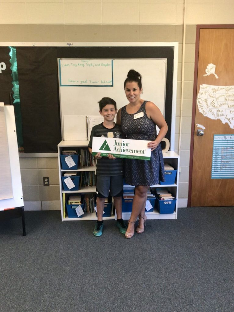 Kelly and her son Ryan during JA in a Day